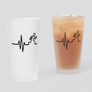 Runner frequency Drinking Glass