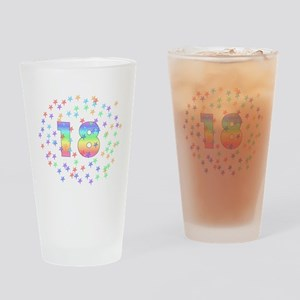 18th Birthday Pastel Stars Pint Glass
