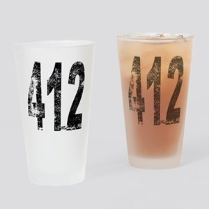 Pittsburgh Area Code 412 Drinking Glass