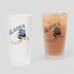 Alaska Last Frontier Drinking Glass