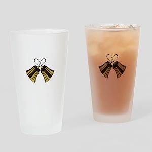 Crossed Handbells Drinking Glass