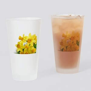 Daffodils Style Drinking Glass