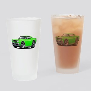 1969 Super Bee Lime Car Drinking Glass