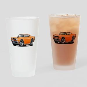 1969 Super Bee Orange Car Drinking Glass