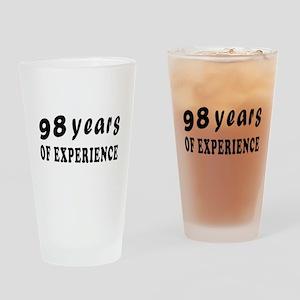 98 years birthday designs Drinking Glass