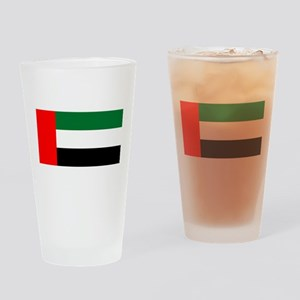 United Arab Emirates Flag Drinking Glass