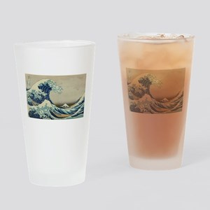 Vintage poster - The Great Wave Off Drinking Glass