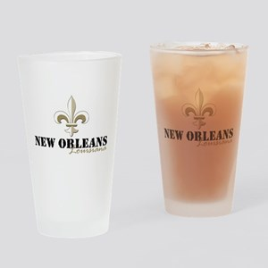 New Orleans Louisiana gold Drinking Glass