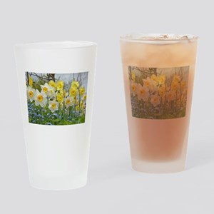 White and yellow daffodils Drinking Glass