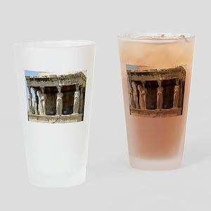 caryotide porch - horizontal Drinking Glass