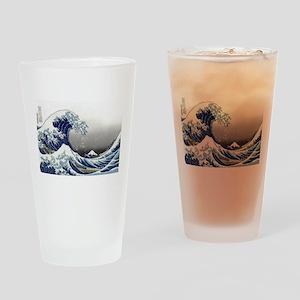 great wave of Kanagawa by hokusai Drinking Glass