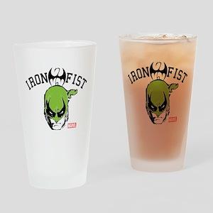 Iron Fist Head Drinking Glass