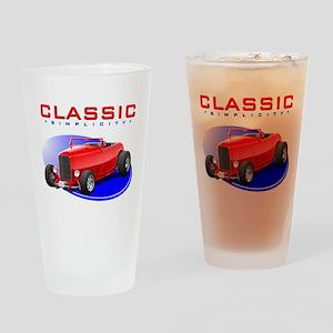 Classic Hot Rod Drinking Glass