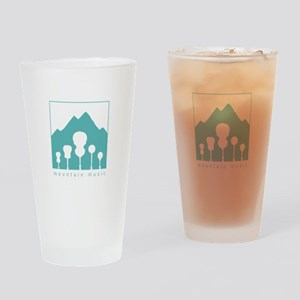Mountain Music Drinking Glass