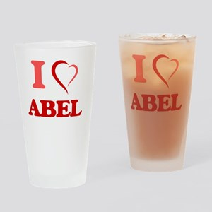 I Love Abel Drinking Glass