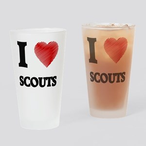 I love Scouts Drinking Glass