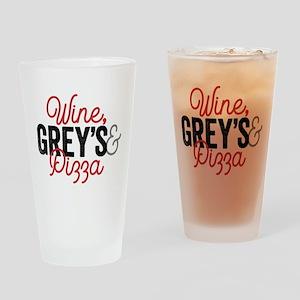 Grey's Anatomy Wine Grey's & Pizza Drinking Glass