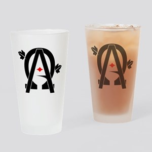 Alpha And Omega Combined Drinking Glass