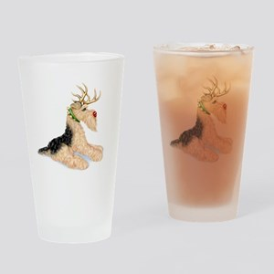Airedale Terrier Dale Deer Drinking Glass