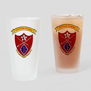 USMC 1/5 insignia Drinking Glass