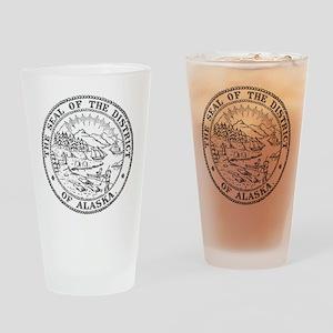 Vintage Alaska State Seal Drinking Glass