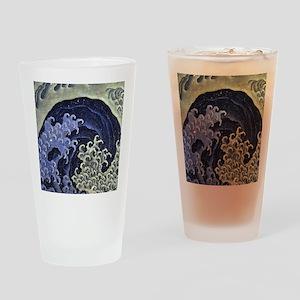 Feminine Wave by Hokusai Drinking Glass