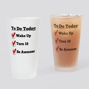 18th Birthday Checklist Drinking Glass