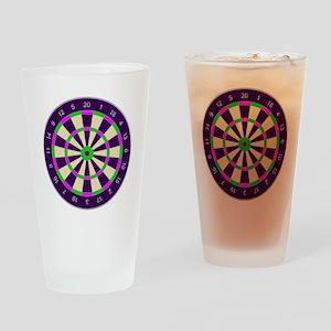 Purple Dart Board Drinking Glass