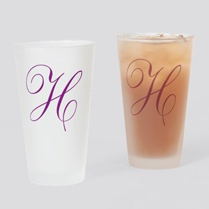 Personalized Monogram Initial Drinking Glass
