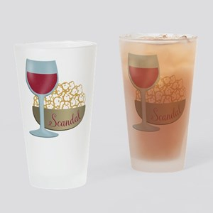 Scandal Red Wine Popcorn Drinking Glass
