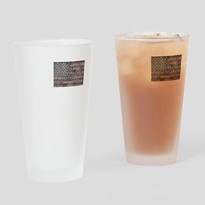 3 percenter flag Drinking Glass