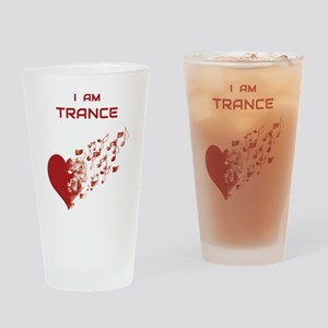 I am Trance Heart Drinking Glass