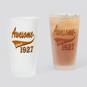 Awesome Since 1927 Birthday Designs Drinking Glass