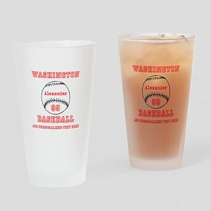 Baseball Personalized Drinking Glass