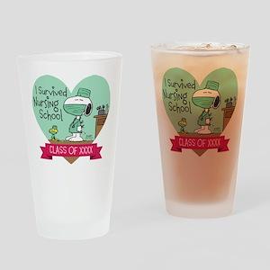 Snoopy Woodstock Nursing School Drinking Glass