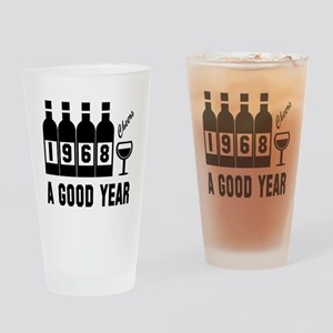 1968 A Good Year, Cheers Drinking Glass