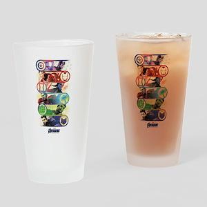 Badges of Avengers Endgame Drinking Glass