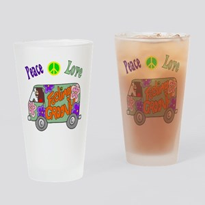 Groovy Van Drinking Glass