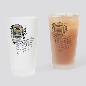 The Alchemy of Writing Drinking Glass
