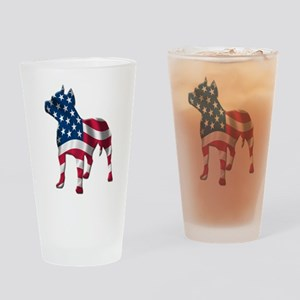Rednose Pit bull design Drinking Glass