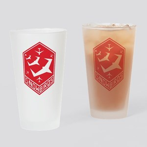 snow_bird_aerobatic Drinking Glass