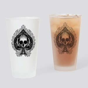 Skull Ace Of Spades Drinking Glass
