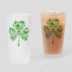 St Paddys Day Shamrock Drinking Glass