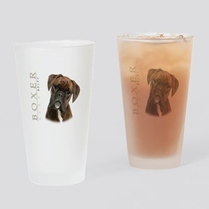 Brindle Boxer Drinking Glass