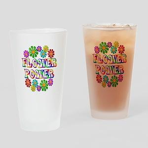 Flower Power Drinking Glass