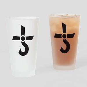 CROSS OF KRONOS (MARS CROSS) Black Drinking Glass