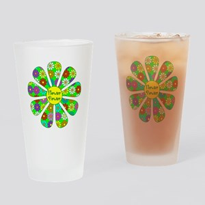 Cool Flower Power Drinking Glass