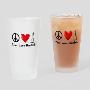Peace, Love, Handbells Drinking Glass