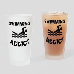 Swimming Addict Drinking Glass