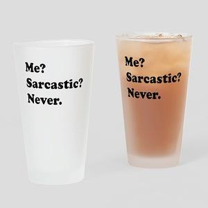 Sarcastic Drinking Glass